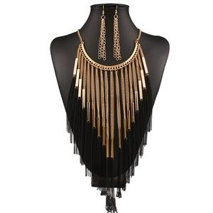 Jewelry - Fashion Jewelry Set Necklace & Earrings